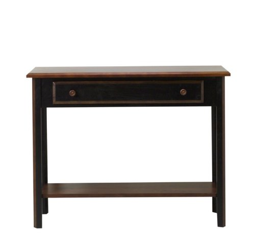 Image of Entryway Console Sofa Table in Two Tone Black Rubbed Finish (VF_AZ00-52457x26166)
