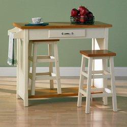 Image of Southern Enterprises Nantucket 3 Piece Breakfast Bar Dining Set (DN1439)