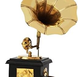 JaipurCrafts Sparkle Square Gramophone Showpiece