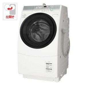 アクア 9.0kg ドラム式洗濯乾燥機【左開き】ナチュラルホワイトAQUA エアウォッシュ AQW-D500-L-W