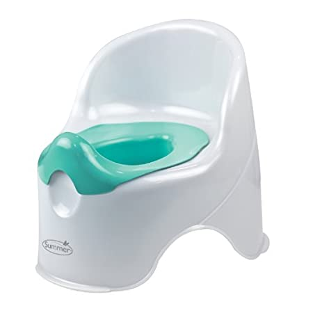 The Summer Infant Lil' Loo Potty is perfect for your potty training toddler. The stylish, comfortable potty blends with your existing bathroom decor. An easy to remove pot and high splash guard for boys make clean up quick and simple. The high back s...