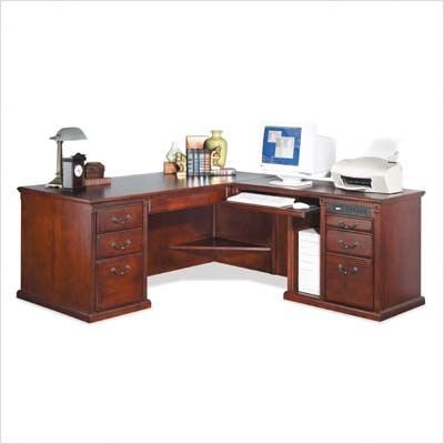 Picture of Comfortable Huntington Club Desk with Right Computer Return (Cherry) (68