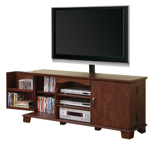 Image of TV Stand Console with Media Storage in Brown Finish (AZ00-75533x32315)