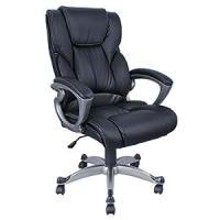 Amazon.com: Pu Leather High Back Office Chair Executive ...