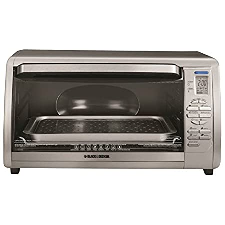 Convection cooking in a stainless steel design with an extra-large digital display combines exceptional performance and style. The one-touch preset functions are convenient and easy-to-use. Oven is large enough to fit a 12-inch pizza or casserole dis...
