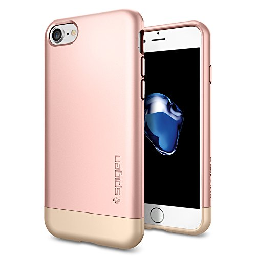 iPhone-7-Case-Spigen-Style-Armor-Protective-Rose-Gold-SOFT-Interior-Protection-Metallic-Finished-Base-with-Dual-Layer-Protection-Slim-Trendy-Hard-Case-for-Apple-iPhone-7-2016-042CS20517