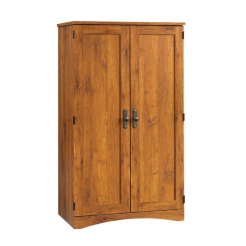 Picture of Comfortable Abbey Oak Computer Armoire JXA154 (B003OELFQW) (Computer Armoires)