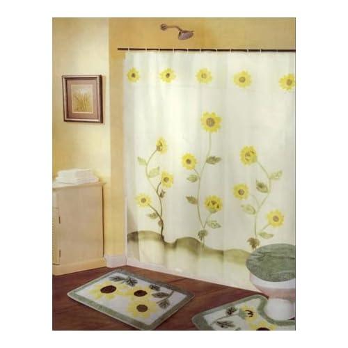 Sets w curtains sunflower bathroom rug set bathroom accessory sets