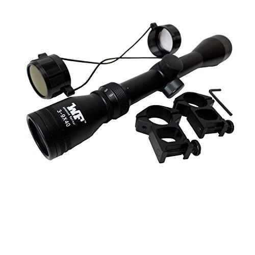 ライフルスコープ 3-9x40 スナイパーライフル 20mmハイマウントリング付属/3~9倍ズーム国内狩猟、実銃対応