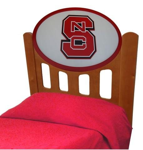 Image of NCSU NC State Wolfpack Kids Wooden Twin Headboard With Logo (C0526S-NC State)