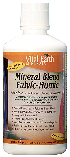 Vital Earth Minerals Mineral Blend Fulvic-Humic, 32 Fluid Ounce