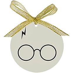 Arhowk Custom Personality Harry Potter Design Round Porcelain Christmas Gift Ornaments