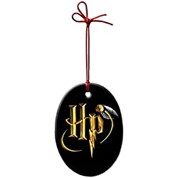 FkerGa Prsonalized Oval Porcelain Ornament Christmas Ceramic Decorative Gift - Harry Potter