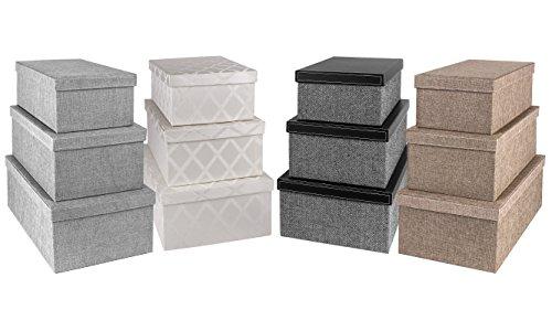 Creative Scents Storage Box Set 3 Pcs Gaillana Fabric
