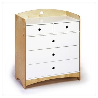 Image of Offi Bebe 2 Kids Dresser with 5 Drawers (B0015AY50A)