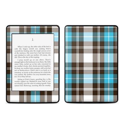 Amazon Kindle Paperwhite スキンシール【Turquoise Plaid】