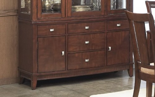 Image of Buffet with Sturdy Design in Rich Walnut Finish (VF_AP-341-72)
