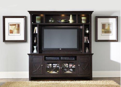 Image of LIBERTY PIEDMONT ENTERTAINMENT CENTER TV STAND MOUNTABLE HUTCH DARK MOCHA NEW (955-ENT)