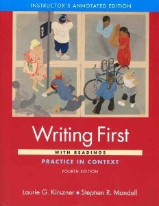 Writing First: Practice in Context: With Readings