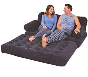Globatek dbl inflatable sofa bed amazon co uk kitchen amp home
