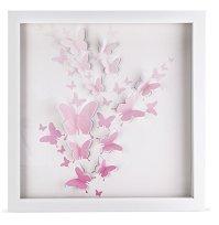 3D Pink Butterfly Artwork, Girls room dcor, Baby girl ...