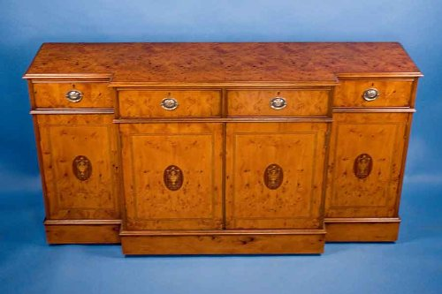 Image of English Yew Breakfront Sideboard (B00417VCEQ)