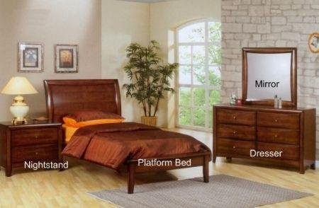 Image of Sumner Kids Twin Platform Bedroom Set - Coaster 400281 (B005LWQ05Q)
