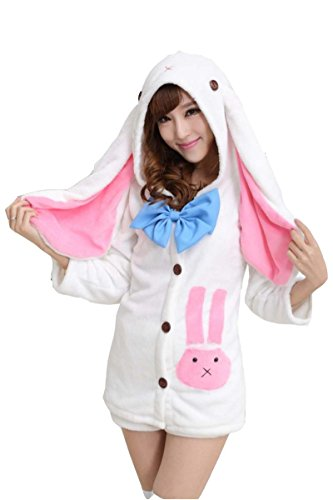 XMiniLife® Hatsune Miku Rabbit Hoodie Pants Cosplay Costume Set