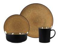 Gibson Novabella 16-Piece Reactive Stoneware Dinnerware ...