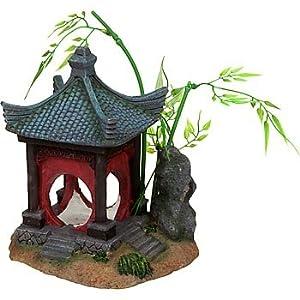 .com : Petco Asian Gazebo Aquatic Decor : Aquarium Decor Ornaments