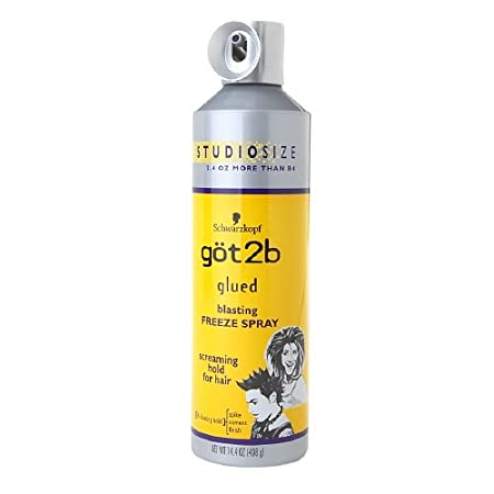 Freeze that style into place with Got2b blasting freeze spray. Spray through hair carelessly for that sexy, messy look or twist tips into spikes for outrageous hold that will last until your next shampoo. Only for stuck up styles and extreme rock har...