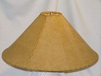 """Western Leather Lamp Shade - 24"""" Gold Pig Skin ..."""