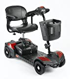 Style 4mph Portable Mobility Scooter Travel Car Boot Scooter - Red