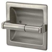 Amazon.com - Brushed Nickel Recessed Toilet Paper Holder ...