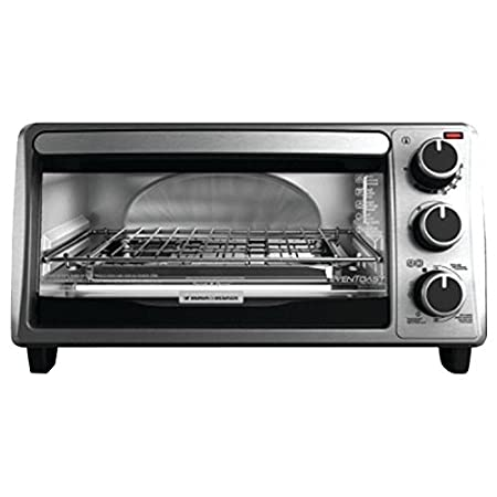 The Black & Decker four-slice toaster oven is a kitchen counter classic. No need to heat up the conventional oven, this model (model TO1303SB) allows you to get cooking in a hurry. The large window and cooking timer, with stay-on function, allow you ...