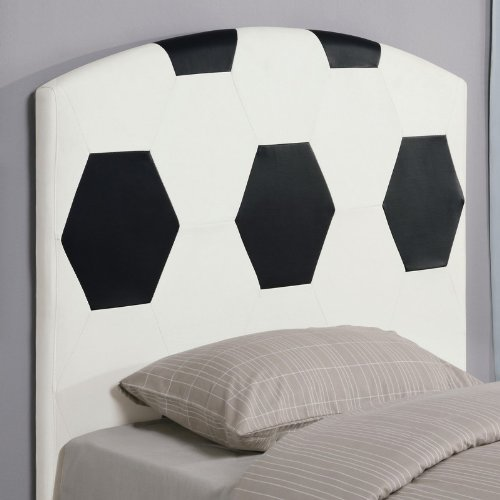 Image of Twin Size Kid Headboard with Soccerball Design (VF_460168)