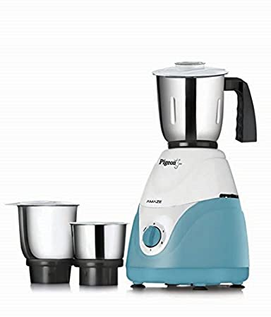 Pigeon Amaze Mixer Grinder- White & Blue with 3 Jars