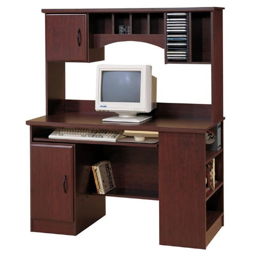 Picture of Comfortable Morgan Collection Computer Desk in Royal Cherry Finish By South Shore Furniture (B0035C7YRM) (Computer Desks)
