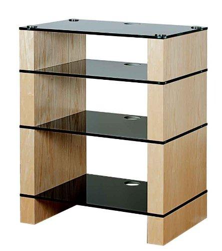 Image of BLOK STAX DeLuxe 400 Four Shelf Ash Hifi Audio Stand & AV TV Furniture Rack Unit (B008AHJ3IK)