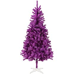 Homegear 6FT Artificial Purple Xmas / Christmas Tree