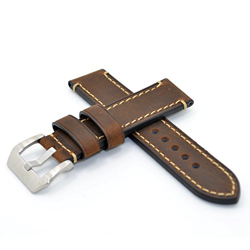 22mm-Drak-Brown-Watch-Band-Strap-Italy-Calf-Leather-Handmade-Strap-for-iwatch-and-Pebble-Time-Watch