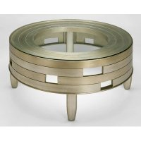 Buy Low Price Round Coffee Table in Old World Silver and ...