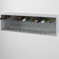 Under Cabinet 3 Wine Bottle Rack , Stainless Steel Metal ...