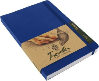 Pentalic Traveler Pocket Journal Sketch, 6-Inch by 8-Inch, Royal Blue