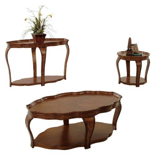 Image of Progressive Furniture Sofa/Console Table - Cherry Solids and Burl Veneers (P552-05)