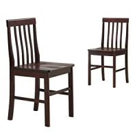 Amazon.com: Espresso Wood Dining Chairs, Set of 2: Kitchen ...