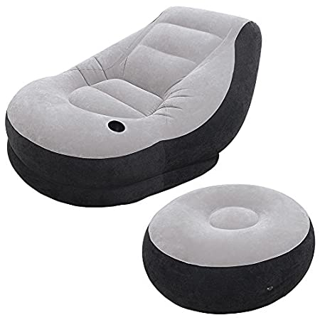 Shelf boxThis clever, comfortable inflatable chair-and-ottoman set, from inflatable goods maker Intex, features soft flocked material, an angled backrest, and built-in cup holder. The portable and surprisingly versatile furniture can be used camping,...