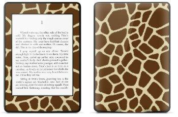 Amazon Kindle Paperwhite スキンシール アニマル キリン柄 ベージュ (No.002-kpw)