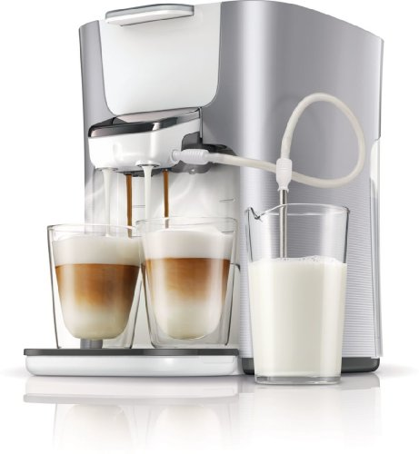 Philips Senseo HD7857/20 Latte Duo-Kaffeepadmaschine (2650 Watt, Touchpanel, Duo Latte-Funktion) silber