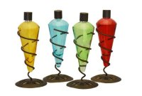 4 Pack 11 in Assorted Color Table Top Torch - Burning ...